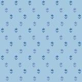 Vector il reticolo senza cuciture, piccoli fiori sul blu Fotografie Stock