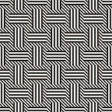 Vector il reticolo senza giunte L'intreccio alla moda moderno allinea la struttura Ornamento a strisce geometrico Immagine Stock