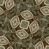 Vector il reticolo senza giunte Ornamento floreale indiano Carta da parati decorativa variopinta Illustrazione per il web, tessut illustrazione vettoriale