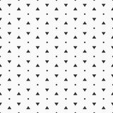 Vector il reticolo senza giunte Pois semplici e forme dei triangoli Immagini Stock