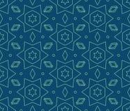 Vector il reticolo senza giunte Ripetizione delle mattonelle geometriche Immagine Stock Libera da Diritti