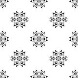 Vector il reticolo senza giunte Ripetizione geometrica Se in bianco e nero Fotografia Stock