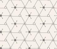 Vector il reticolo senza giunte struttura alla moda moderna Ripetizione delle mattonelle geometriche con la griglia esagonale sot illustrazione di stock