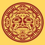 vector il simbolo del sole, stylization di arte di nord-ovest Fotografia Stock Libera da Diritti