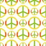 Vector il simbolo di pace fatto del fondo senza cuciture dell'ornamentale del modello di stile del segno di pacifismo di tema di  Fotografie Stock Libere da Diritti