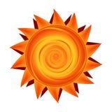 Vector il sole di carta nel simbolo soleggiato giallo ed arancio Immagine Stock
