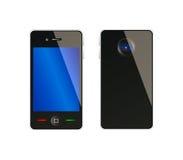 Vector il telefono mobile dal lato fronte e posteriore Fotografia Stock