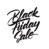 Vector il tipo scritto a mano iscrizione di vendita di Black Friday isolata su fondo bianco Immagini Stock