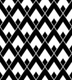 Vector il triangolo senza cuciture moderno del modello della geometria, estratto in bianco e nero Fotografie Stock