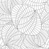 Vector il web di scarabocchio ed il modello di onda astratti senza cuciture illustrazione vettoriale