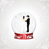 Vector illistration of a loving couple Royalty Free Stock Image