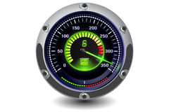 Vector illuminated speedometer Royalty Free Stock Images