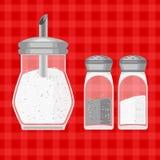 Vector illusrtation of sugar, salt and pepper Royalty Free Stock Images