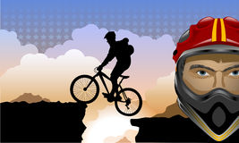 Vector illustartion with bike Royalty Free Stock Image