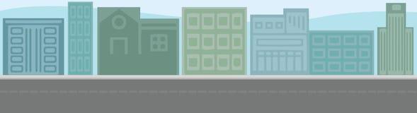 Vector illustartion of urban metropolis. City landscape illustration Royalty Free Stock Images