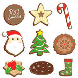 Vector illustartor merry christmas cookie product Stock Image