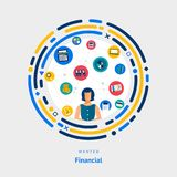 Vector illustrate flat design concept financial. people skill for business financial or investment and bank industry. Stock Photography