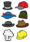 Vector illustrate hats Stock Images