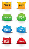 Vector illustrate sale labels Royalty Free Stock Images