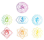Chakras symbols sketch Stock Images