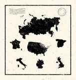Vector Illustrated map of the world Stock Image