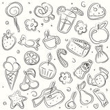Vector illustrated sweets Stock Photography