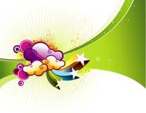 Vector illustratie als achtergrond Stock Foto's