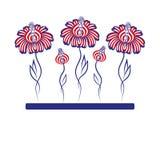 Vector illustratie - bloemen Royalty-vrije Stock Afbeeldingen