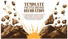 Vector illustratie boom Grappige boekexplosie Stock Afbeelding