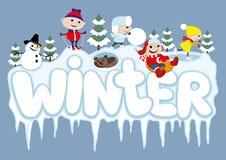 Vector illustratie De winter Stock Foto's