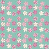 Vector illustratie Eps 10 Bloemen op een blauwe achtergrond Seaml Stock Foto