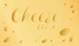 Vector illustratie Gele kaas met gaten Stock Fotografie