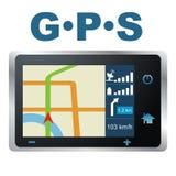 Vector illustratie. GPS Royalty-vrije Stock Afbeeldingen