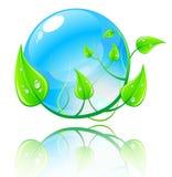 Vector illustratie groen en blauw concept. Royalty-vrije Stock Foto's