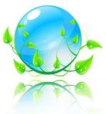 Vector illustratie groen en blauw concept. Royalty-vrije Stock Afbeeldingen