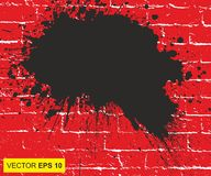Vector illustratie Groot realistisch bloed bespat op achtergrond het concept ontzetting, bezorgdheid en vreselijk iets stock illustratie