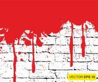 Vector illustratie Groot realistisch bloed bespat op achtergrond het concept ontzetting, bezorgdheid en vreselijk iets vector illustratie
