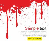 Vector illustratie Groot realistisch bloed bespat op witte achtergrond het concept ontzetting, bezorgdheid en vreselijk iets vector illustratie