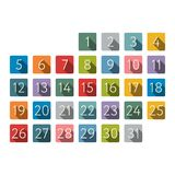 Vector illustratie Het pictogram van de kleurenkalender Stock Foto