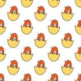 Vector illustratie kleine die babyvogel op witte achtergrond wordt geïsoleerd Het naadloze Patroon van Kinderen vector illustratie
