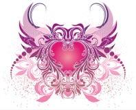 Vector illustratie met engel Royalty-vrije Stock Afbeelding