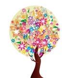 De boom van de bloem Vector Illustratie