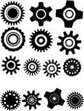 Vector illustratie met tandwiel Stock Afbeelding