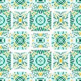 Vector illustratie Naadloos Afrikaans Patroon Etnisch tapijt met chevrons en driehoeken royalty-vrije illustratie