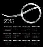 Vector illustratie 2015 nieuwjaarkalender Royalty-vrije Stock Foto