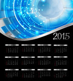 Vector illustratie 2015 nieuwjaarkalender Stock Foto