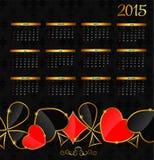 Vector illustratie 2015 nieuwjaarkalender Royalty-vrije Stock Afbeelding