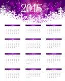 Vector illustratie 2015 nieuwjaarkalender Royalty-vrije Stock Afbeeldingen