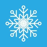 Vector illustratie Ontwerp van de sneeuwvlok het dunne lijn ftat stock illustratie