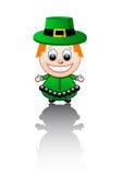 Vector illustratie op een Ierse jongen Stock Foto